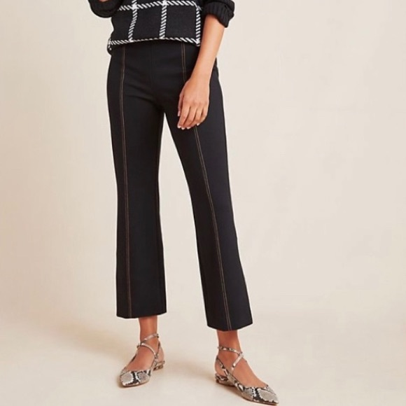 ANTHROPOLOGIE The Essential Crop Flare PANTS